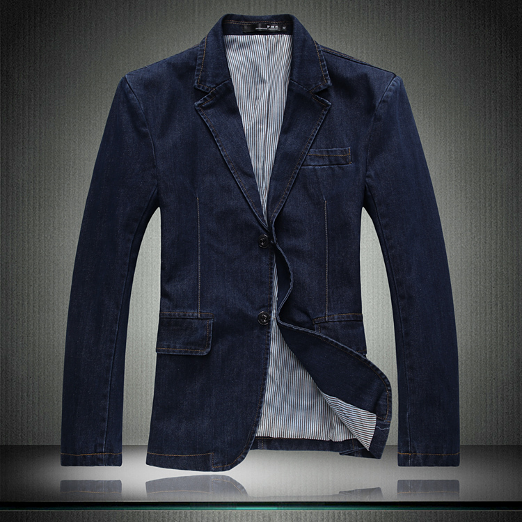 Popular Mens Denim Blazer-Buy Cheap Mens Denim Blazer lots from