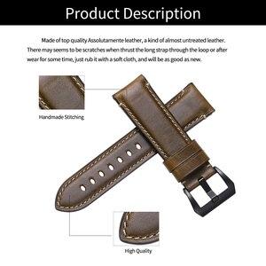 Image 2 - CHIMAERA Accessori Per Orologi Cinturino di Vigilanza 22 millimetri 24 millimetri Vintage In Pelle di Mucca Watch Band Per Fossil Cinturino