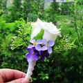 Beautiful White Rose Frower Wedding Wrist Corsage For Men corsages prom FW150
