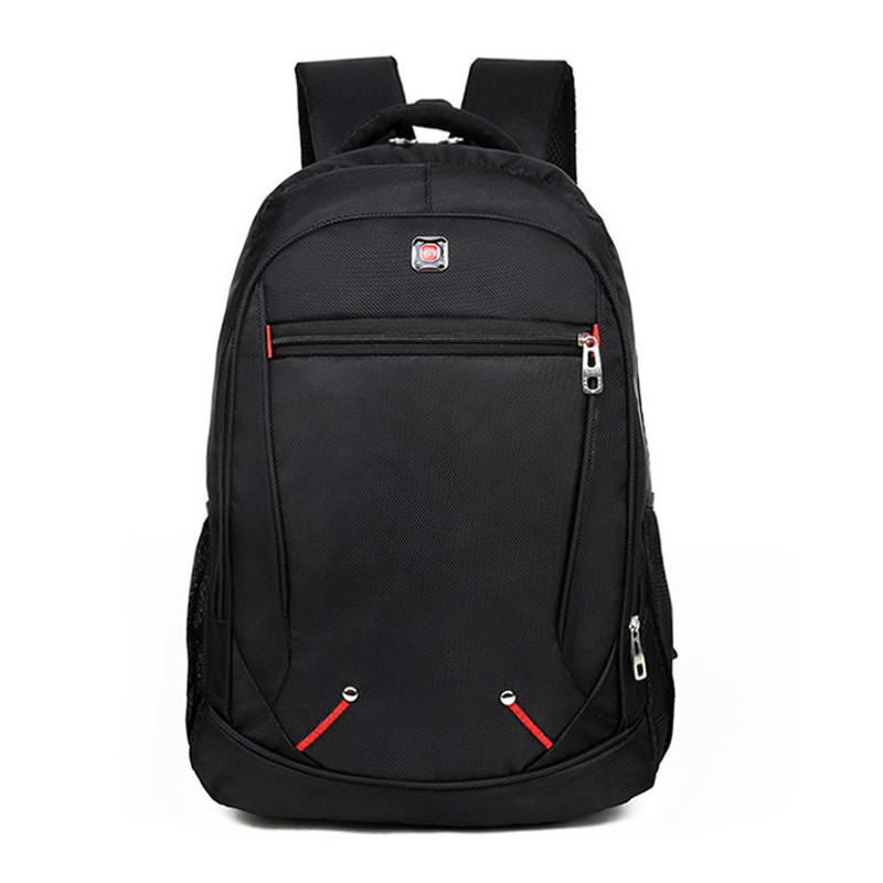 New Design Casual Solid Color Material Oxford Man's Backpack Multi-functional Large-capacity Student Schoolbag Simple Bag
