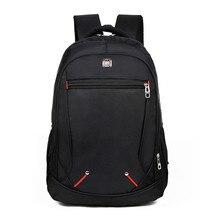 2018 новый дизайн Повседневный однотонный материал Оксфорд мужской рюкзак мульти-функциональный большой емкости Студенческая школьная сумка простая сумка