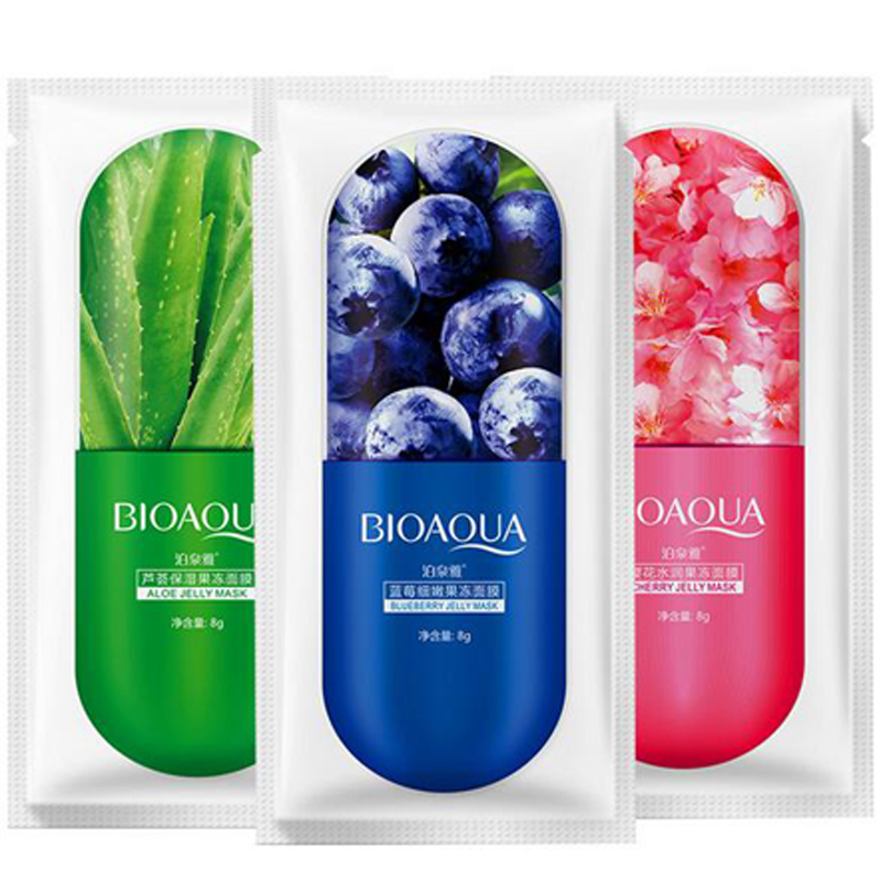 BIOAQUA Moisturizing Blueberry Cherry Jelly Mask Face Wrapped Masks Oil Control Smooth Tender Replenishment Skin Care 8g