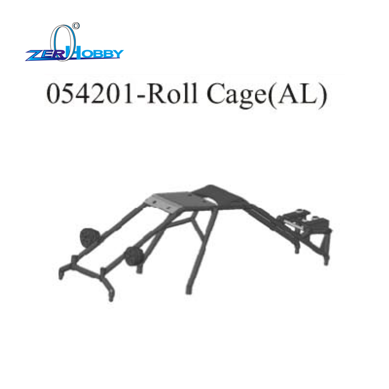 HSP RACING RC CAR UPGRADE SPARE PARTS ACCESSORIES 054201 AL. ROLL CAGE FOR HSP 1/5 GAS POWERED 4WD OFF ROAD BAJA 94054 94054-4WD