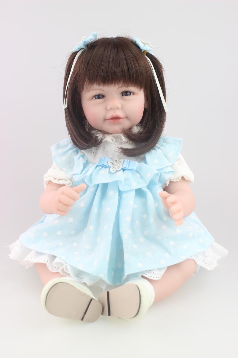 ФОТО 52cm reborn baby girl doll Soft Vinyl  Girls Christmas Gift Baby Toys Birthday Gifts Juguetes LifeLike Play house toy Doll