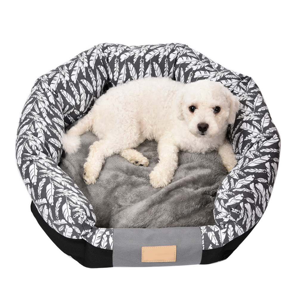 Removable Pet Beds for Teddy and Dogs with Bamboo Leaf Type For Puppies Pet Bed Animals Dog Beds For Dogs Cat House Dog Mat Sofa