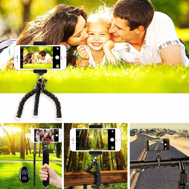 Hot sales Mini Octopus Selfie Sticks Camera Phone Holder Flexible Octopus Tripod Bracket Stand Holder Mount Styling Accessories