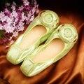Calidad de la marca Mujeres de Los Planos de Cuero Genuino Mocasines Planos Del Ballet Zapatos Cómodos de Las Mujeres Chaussure Femme 2016 Venta Caliente Zapatos