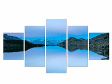 5 Pieces Free Shipping Blue Sky Lake Great Mountain Canvas Prints for Living Room Wall Art Picture Gift Home Decoration Framed брюки sky lake sky lake mp002xb0079t