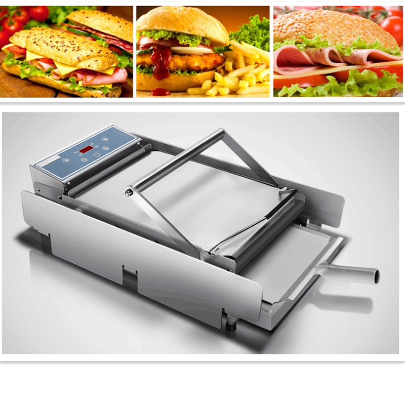 220V Commercial Baked Hamburger Machine NC Control Toaster Double Hamburger Maker Machine Burger Buns Toaster For Burger Shop 35l meat salting marinated machine chinese salter machine hamburger shop fast pickling machine with timer