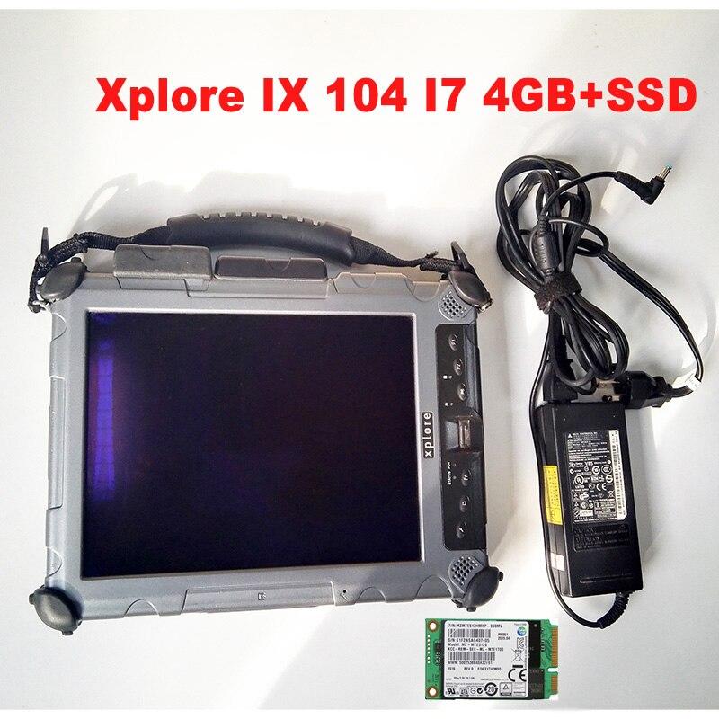 2020.03 mais novo software mb para mb estrela c4 software de diagnóstico do carro ssd instalado na tabuleta xplore ix 104 i7 cpu 4 gb áspero pc
