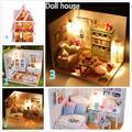 Kits DIY Wood Dollhouse Piano Miniature With LED+Furniture+cover Room Gift