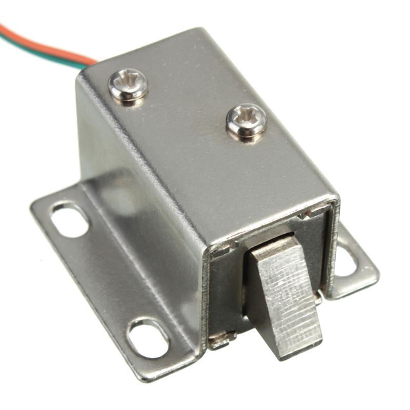 Electric Cabinet Door Lock Assembly Latch Solenoid for Drawer Locker Lock DC 12V