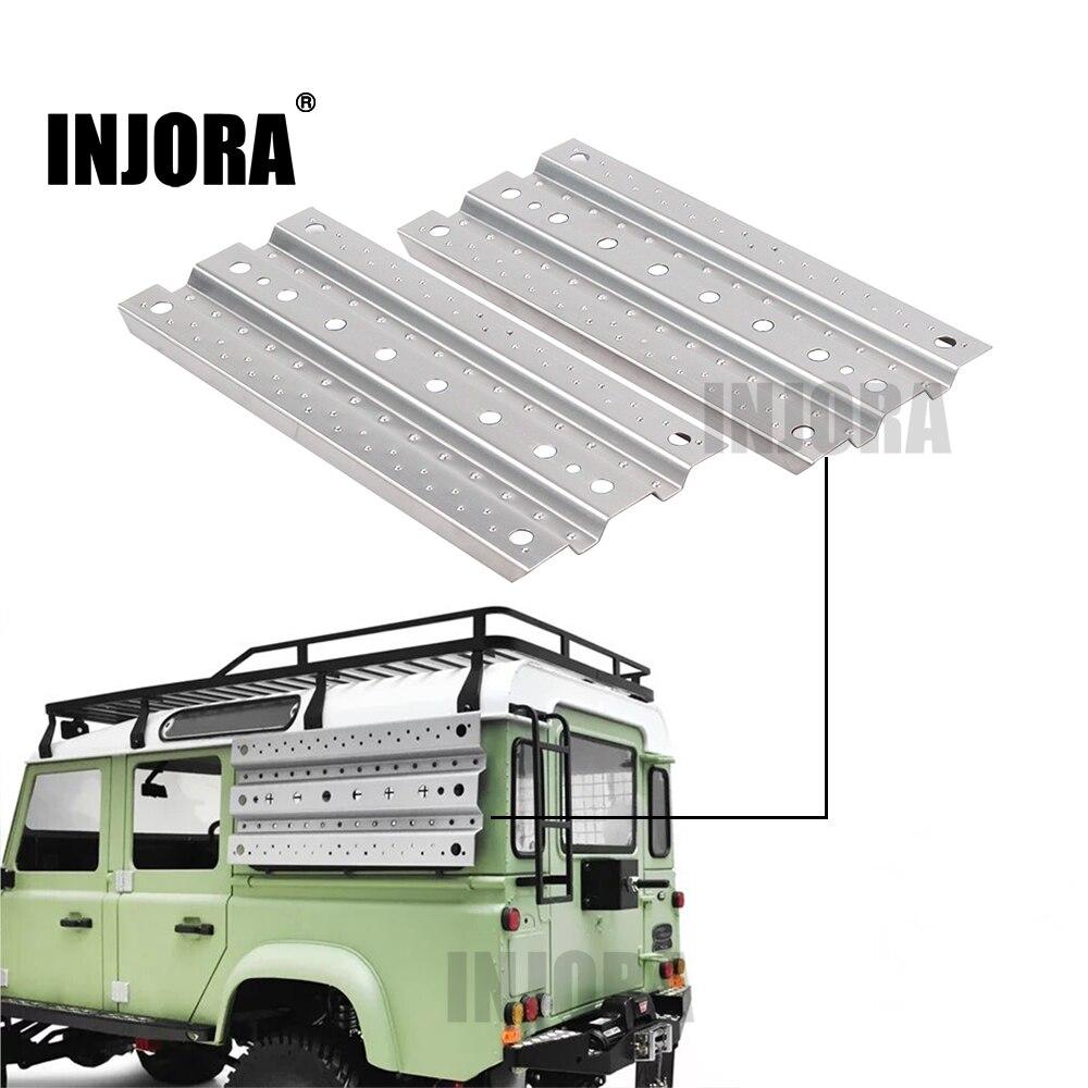 INJORA 2 unids de arena de Metal escalera de recuperación de la Junta para 1/10 RC Rock Crawler Axial SCX10 90046 Traxxas TRX-4 D90 D110 Tamiya CC01
