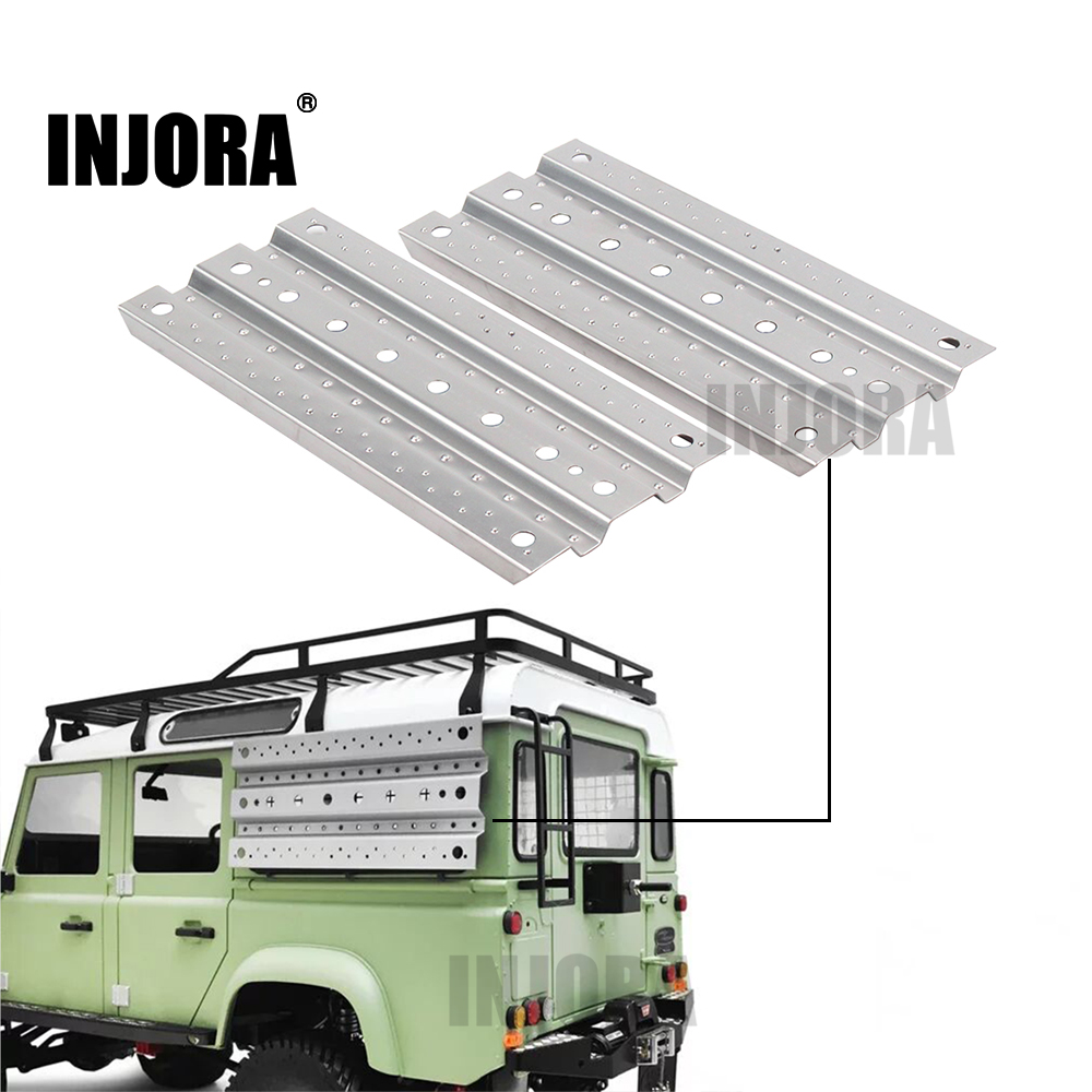 INJORA 2Pcs Metal Sand Ladder Recovery Board for 1/10 RC Rock Crawler Axial SCX10 90046 Traxxas TRX-4 D90 D110 Tamiya CC01 rc 1 10 crawler metal electric winch for 1 10 rc rock crawler traxxas trx 4 axial scx10 rc4wd d90 d110 tamiya cc01