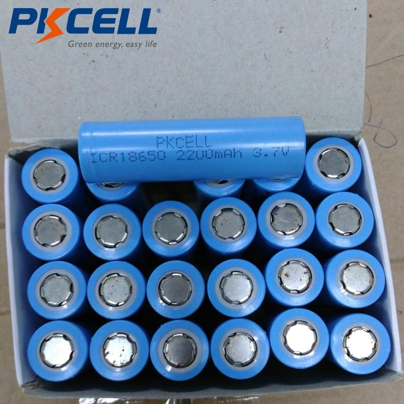 PKCELL Brand Li-ion 18650 Battery 3.7 V 2200 MAh ICR18650 Lithium Rechargeable Batteries Batterie For 18650 Battery Pack