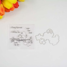 Holiday joy Transparent clear stamp/coordinating die for DIY Scrapbooking/Card M
