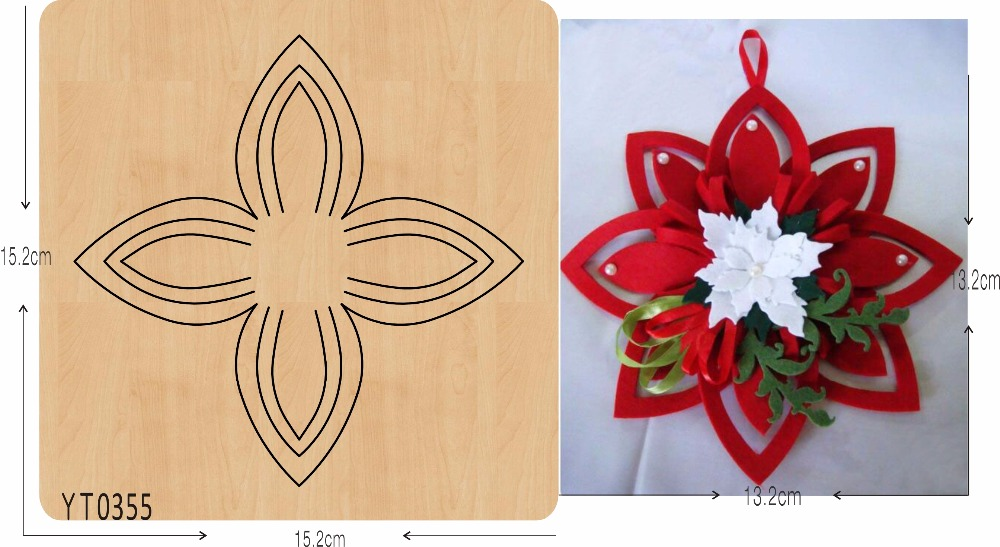 Decorative flowers DIY new wooden mould cutting dies for scrapbooking Thickness/15.8mm//YT0355Decorative flowers DIY new wooden mould cutting dies for scrapbooking Thickness/15.8mm//YT0355
