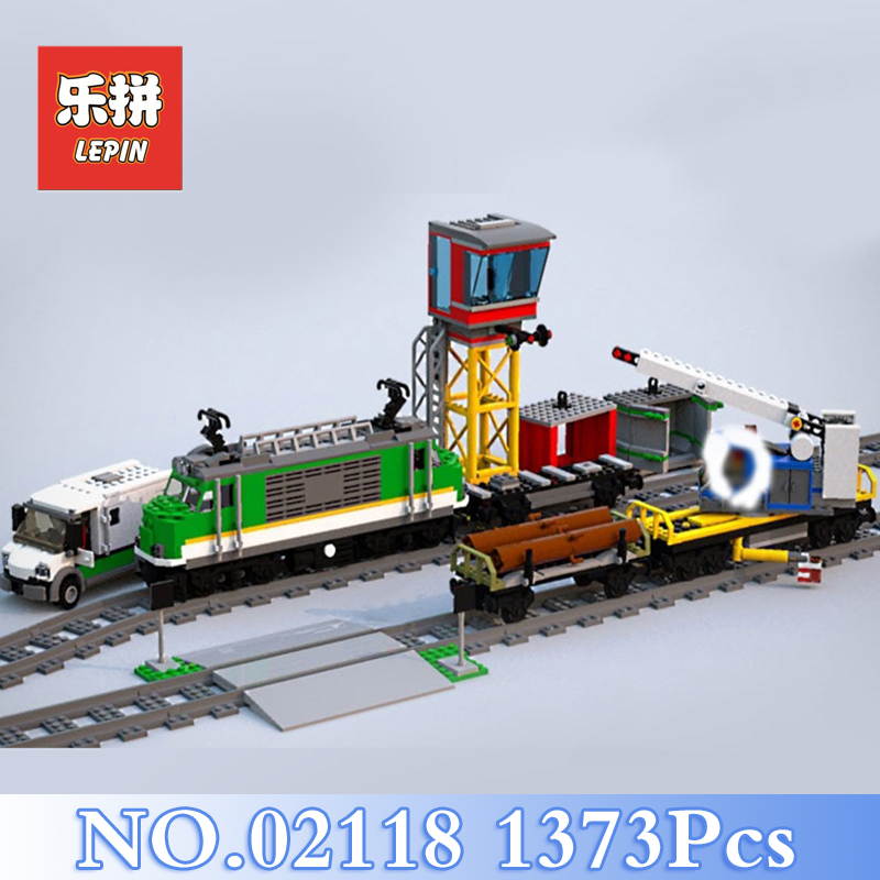 2018 Lepin 02118 1373Pcs City Cargo Train Sets Model Building Kits Blocks Bricks Toys For Children Gift Compatible LegoING 60198