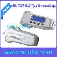 miễn phí vận chuyển 3 trong 1 dẫn ánh sáng hiển thị kỹ thuật số độ sâu lốp với giảm phát và đo áp suất lốp stdjt1205l