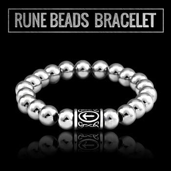 316l Stainless Steel Viking Rune Beads Bracelet High Quality  Viking Bracelet