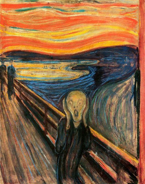 Livraison gratuite criard toile peintures l 39 huile en for Materiel peinture a l huile