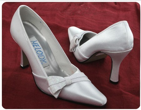 1 pair/lot custom-made bridal ivory shoes for wedding A1044 free shipping