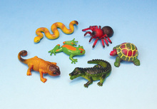 Simulation reptile model crocodile spider turtle lizard snake scary props with children's toys