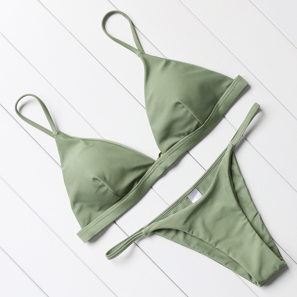 OMKAGI Sexy Bikini 2019 Swimsuit Swimwear Women Biquini Push Up Bikini Set Swimming Bathing Suit Beachwear Maillot De Bain Femme 4