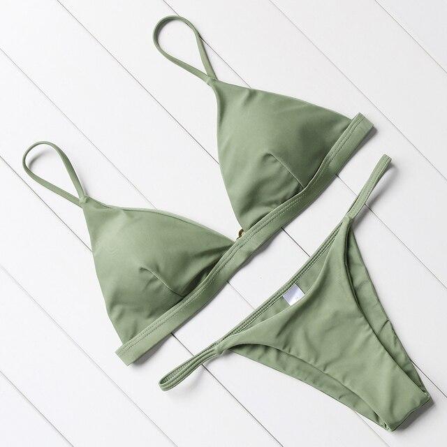 Sexy Brazilian Push Up Bikini Swimwear Women Micro Swimsuit B1258 2