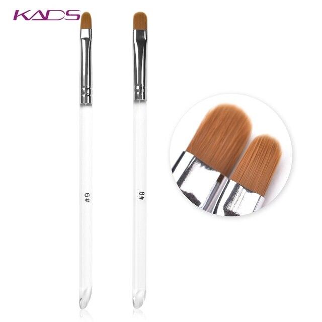 KADS נייל אמנות מברשת עגול ראש UV ג 'ל נייל ארט טיפים הארכת שקוף עט מקצועי ציור ציור מניקור כלי