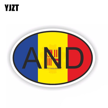 YJZT 9.9CM*6.6CM Personality Andorra AND Country Code Car Sticker Decal PVC 6-0233 image