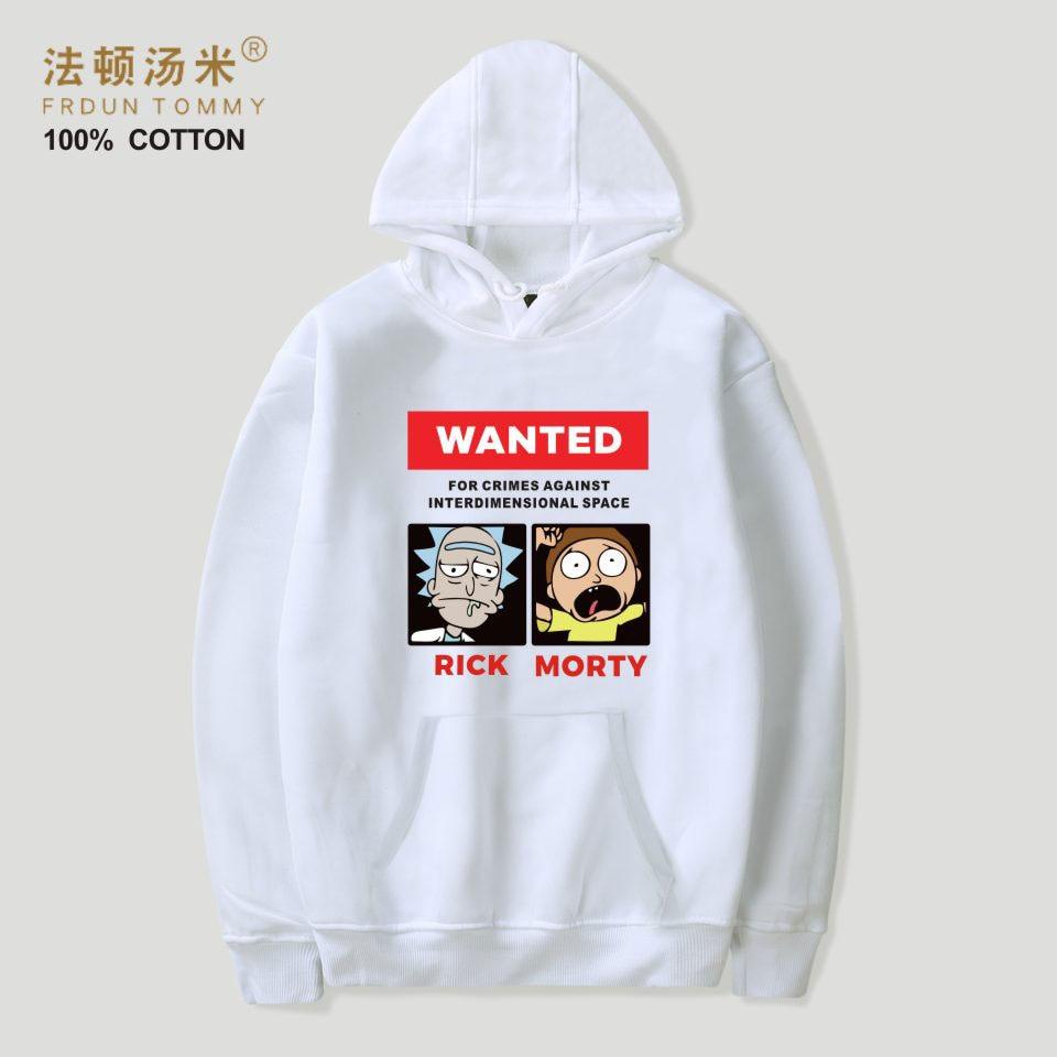 Frdun Tommy Rick and Morty Cartoon Hoodies Sweatshirt Women/Men Fashion Autumn And Winter Casual Sweatshirt Hooded Clothes