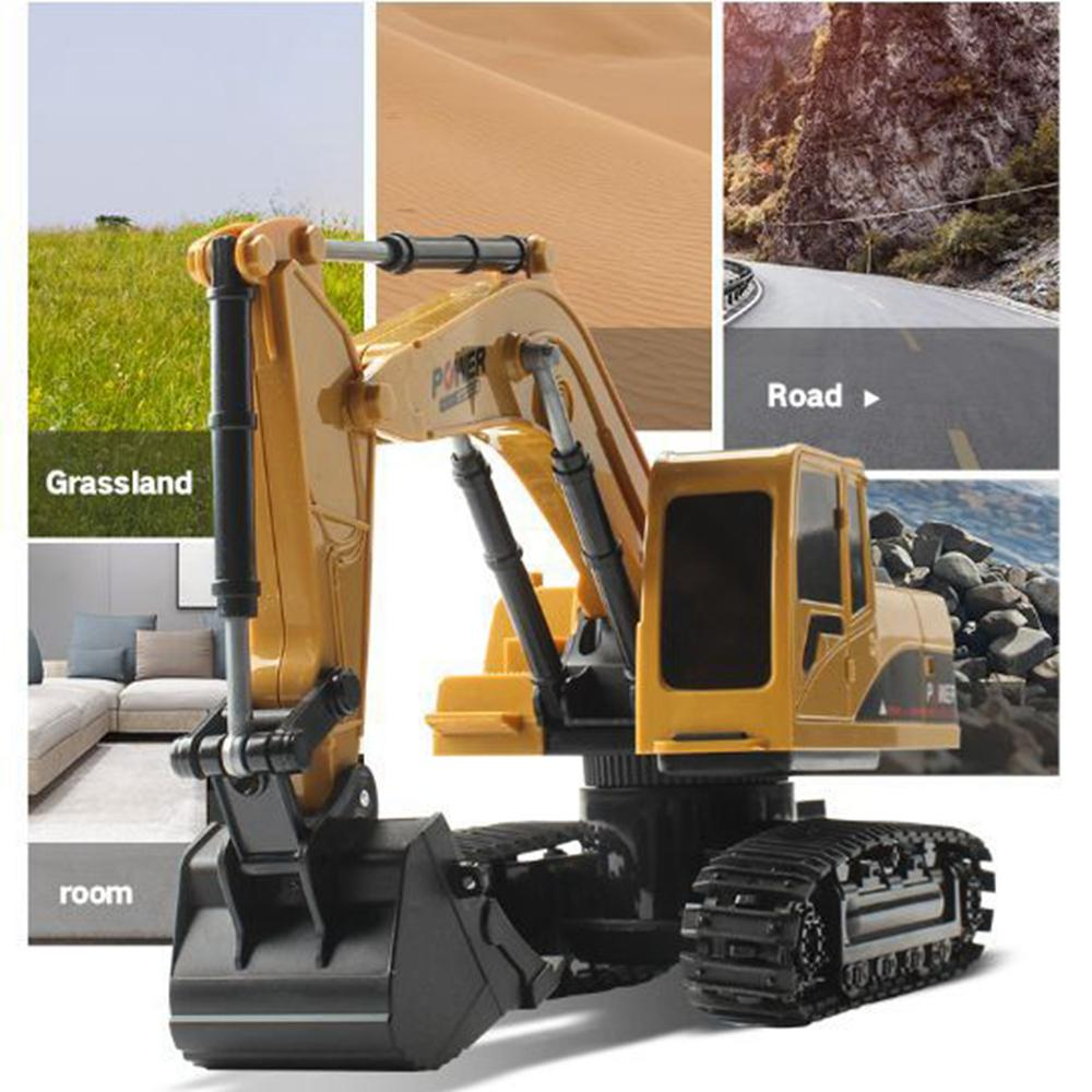 Image 2 - 1/24 Remote Control Simulation Model Excavator 5 Channel 2.4Ghz Excavators Crawler Car Toys for Kids Children-in RC Cars from Toys & Hobbies
