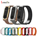 Lemado Original Mijobs Metal Strap colorful replace xiaomi band 2 wrist For MiBand 2 Wristbands Stainless Steel Bracelet