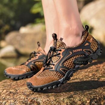 2019 Men's Summer Breathable Hiking Shoes Male Cutout Men's Shoes Movement Outdoor Leisure Sandals Mesh Breathable Shoes 1