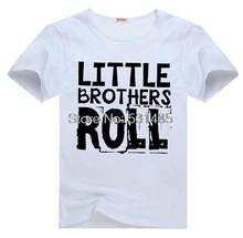 little Brothers Rock and Roll Tee t shirt for toddler kids children boy girl cartoon t-shirt(China)