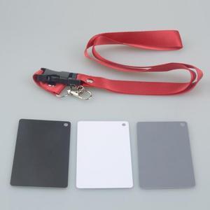 Image 5 - 3in1 Pocket Size Digital Bianco Nero Grigio Balance Carte di Accessori Della Fotocamera Scheda Grigia al 18% con Laccio da collo per il Digitale fotografia