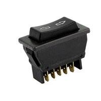 Car Vehicle Black Plastic Momentary 5 Pins Power Window Master Switch