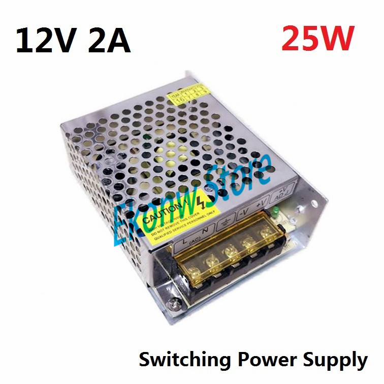 25W 12V 2A Switching Power Supply Factory Outlet SMPS Driver AC110-220V to DC12V Transformer for LED Strip Light Module Display dc12v 20a 240w switching power supply dc12v lighting transformer led driver for led strip led bar light ac110 200v to dc12v