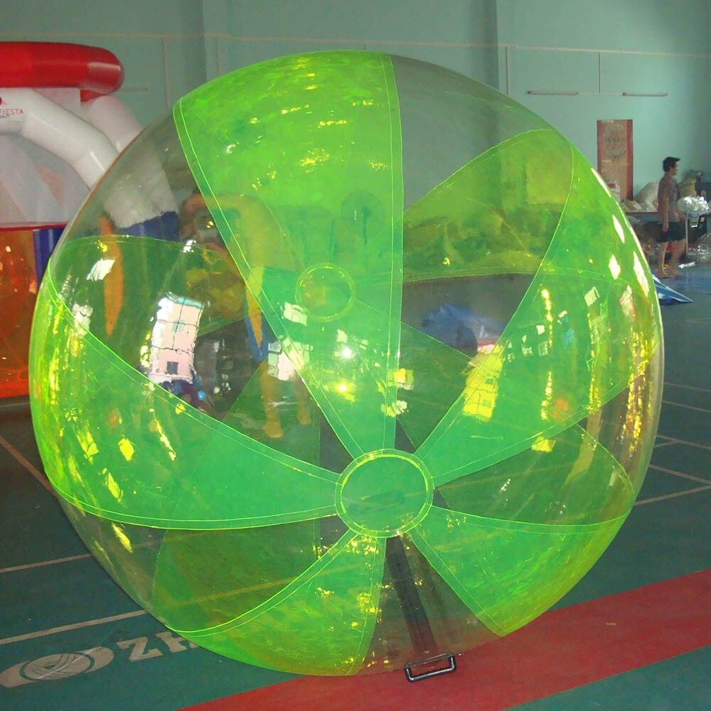 Лидер продаж 2 м надувной мяч ходьбы воды, хорошее качество с TIZIP Германия молния красочные шарик воды - Цвет: Светло-зеленый