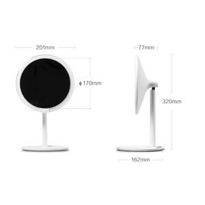 Image 5 - Amiro hd espelho regulável bancada ajustável 60 graus de rotação 2000 mah luz do dia maquiagem cosméticos led espelho lâmpada