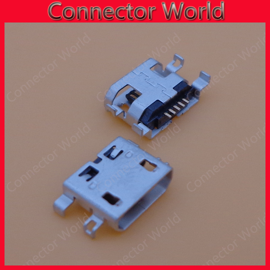 50pcs Micro USB Connector Charger Jack Charging Port socket power plug replacement for UMI UIMI X2 Elephone P8000 High Quality