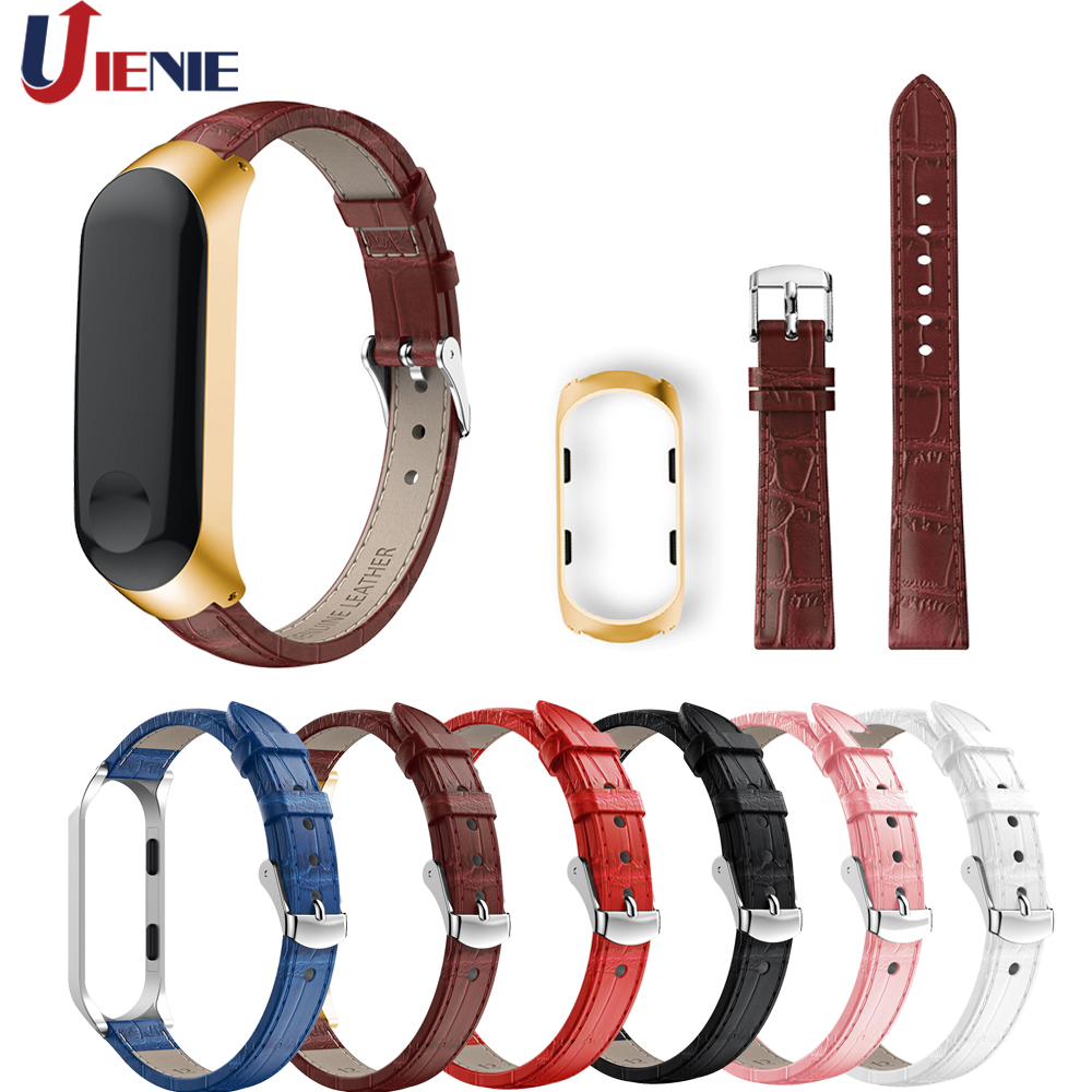 Leather Watch Band Strap For Xiaomi Mi Band 3 Smart Watch Wristband Replacement Bracelet Watchband For MiBand 3 Straps