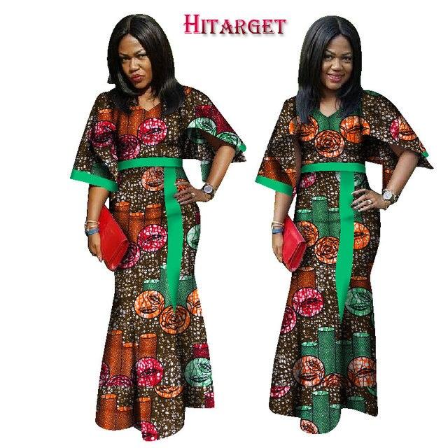2018 robes pour les femmes Africaines dashiki ankara wax batik pur coton  mode sexy vêtements Traditionnels