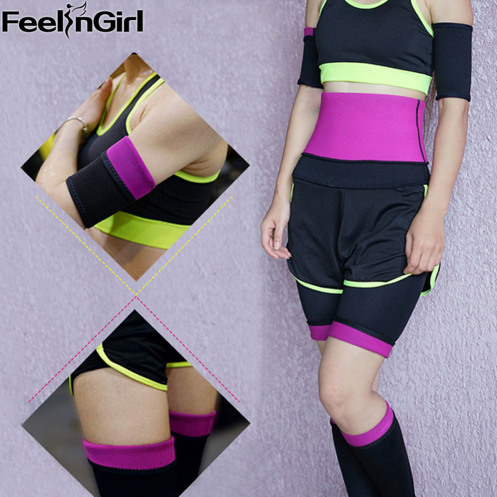 FeelinGirl Arm Fat Burner Arm Slimmer Reduce Sauna Sweat Neoprene Body Wraps for Arms Thighs and Legs Slimmer Weight Loss Hot -C