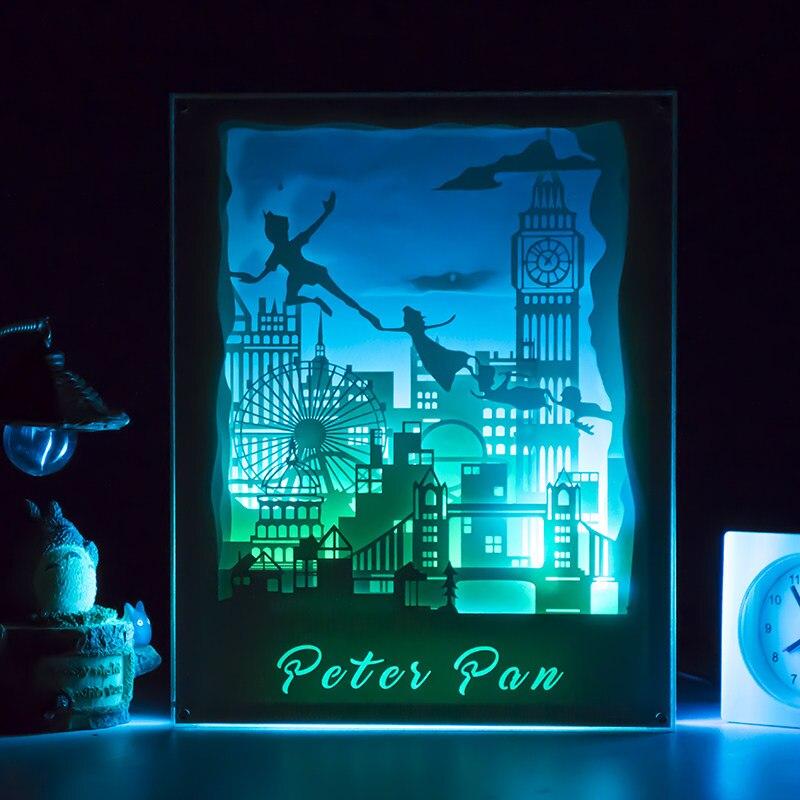 Kreative LED schreibtischlampe Festen rahmen nachtlicht led ...
