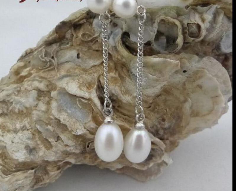 ZCD  Earring  528+++ 6-7-8 Natural Pearl Dripping Earrings