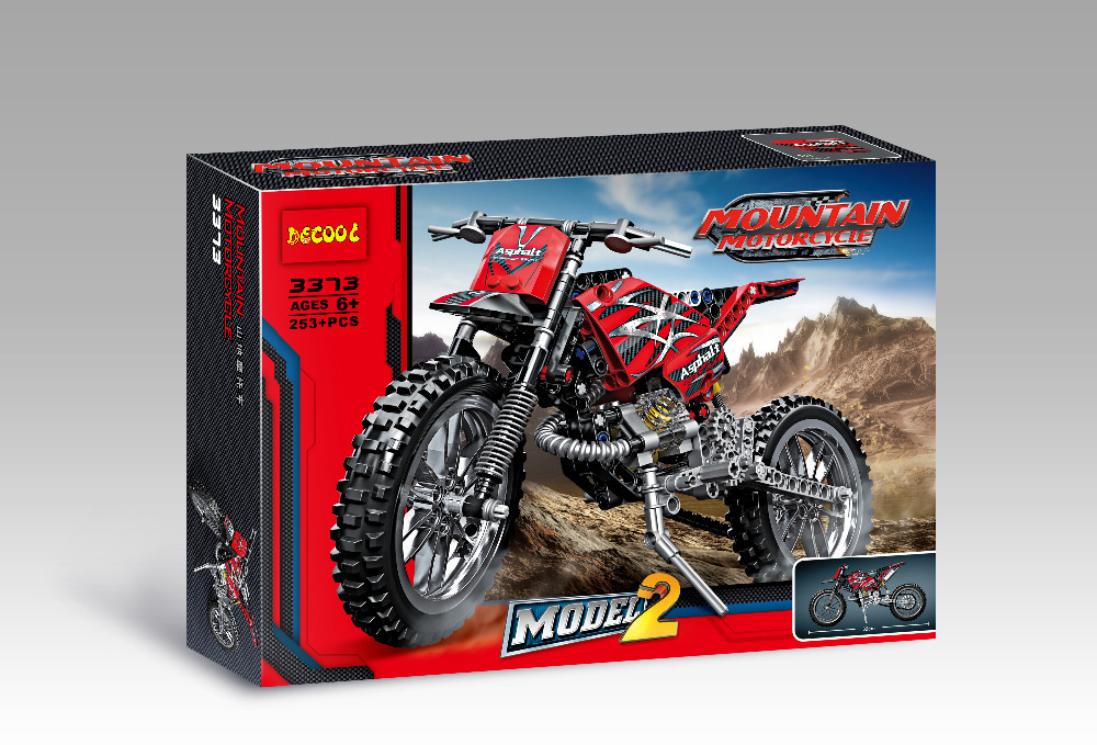 DECOOL Technic City Moto Cross Bike Building Blocks Set Ladrillos - Juguetes de construcción - foto 2