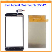 For Alcatel One Touch Pop 2 OT5042 5042 5042x 5042W 5042D LCD Screen Display with Touch Screen Black Free Shipping