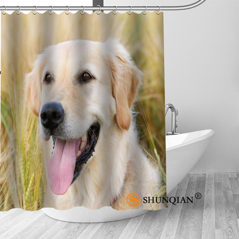 New Labrador Dog Shower Curtain Bathroom Decorations For Home Waterproof Fabric Curtain Shower Bath Curtain A18.1.3